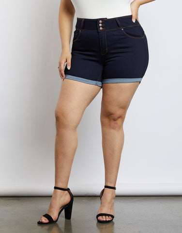 Plus Size Summer Breeze Denim Shorts