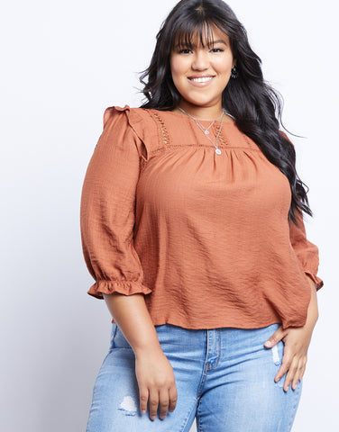 Plus Size Summer Evening Blouse