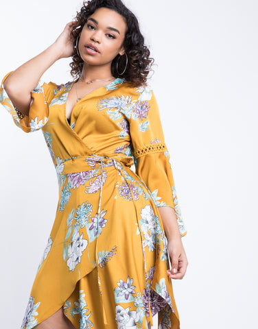 Plus Size Sunday Breeze Wrap Dress
