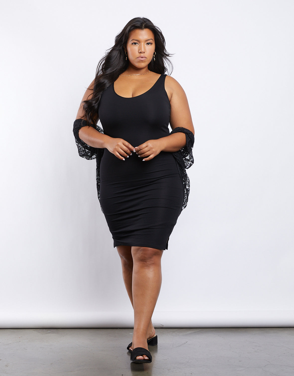 Plus Size Sunny Days Bodycon Dress