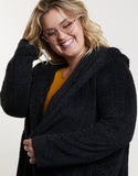 Plus Size Super Soft Hooded Jacket