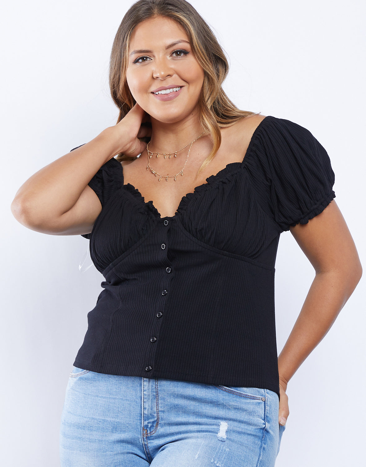 Plus Size Sweetheart Top