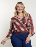 Plus Size Undefined Surplice Top