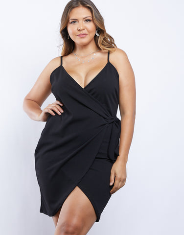 Plus Size Wrap Around Dress