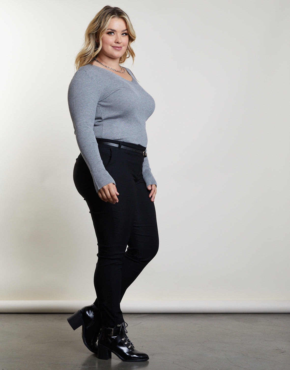 Plus Size You and V Sweater