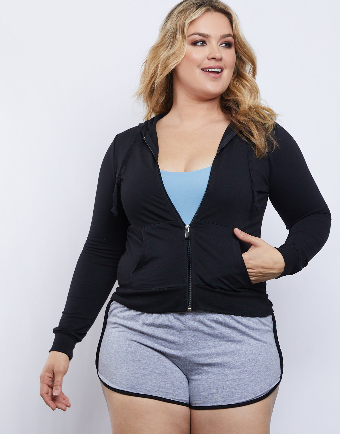 Plus Size Hanna Zip Up Hoodie