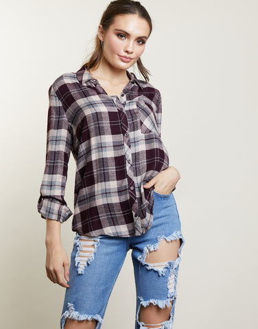 Pretty in Plaid Flannel Shirt