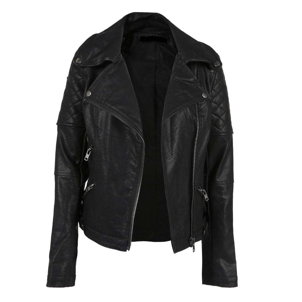Quilted Moto Leather Jacket - 2020AVE