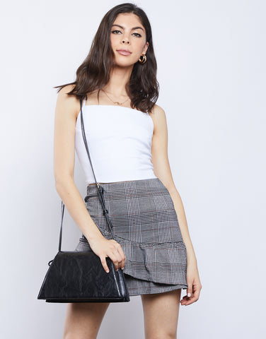 Quinn Ruffled Plaid Skirt