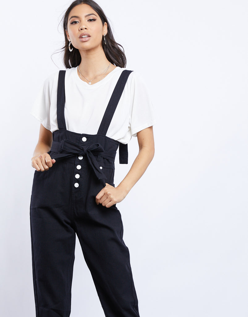Quinn Denim Overalls Rompers + Jumpsuits Black Small -2020AVE