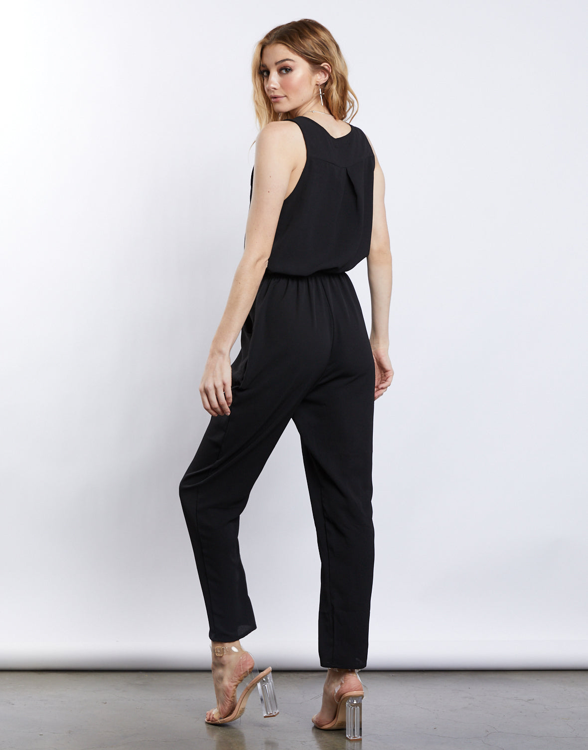 Ready Set Go Black Jumpsuit