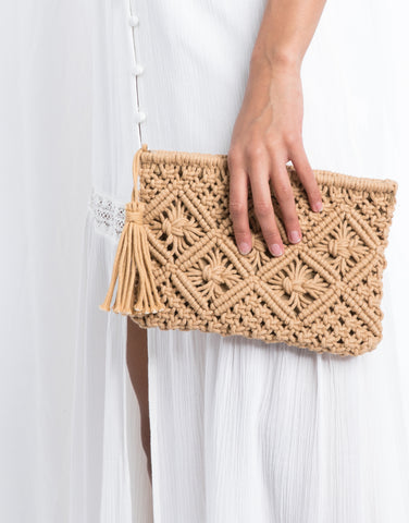 Relax By The Beach Crochet Clutch