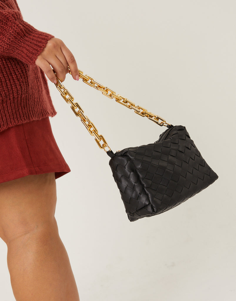 Relaxed Woven Bag Accessories Black One Size -2020AVE