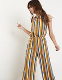 Retrograde Striped Jumpsuit