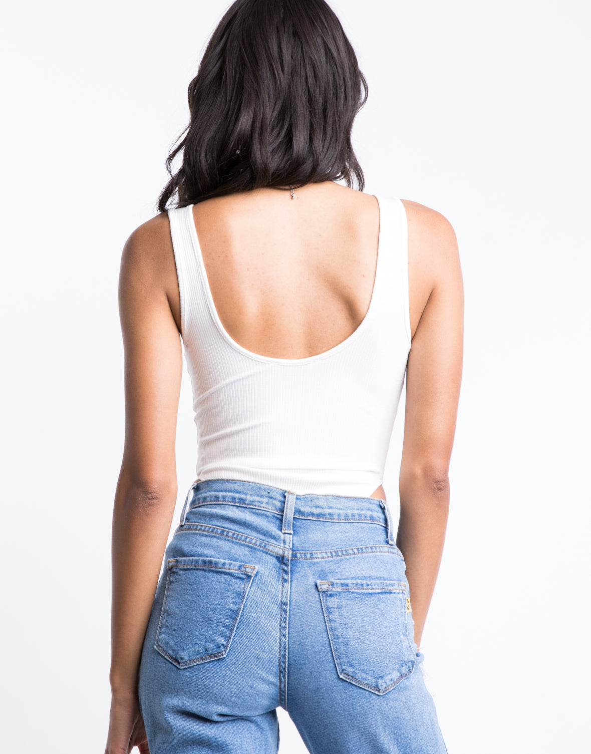 Ribbed High Cut Bodysuit