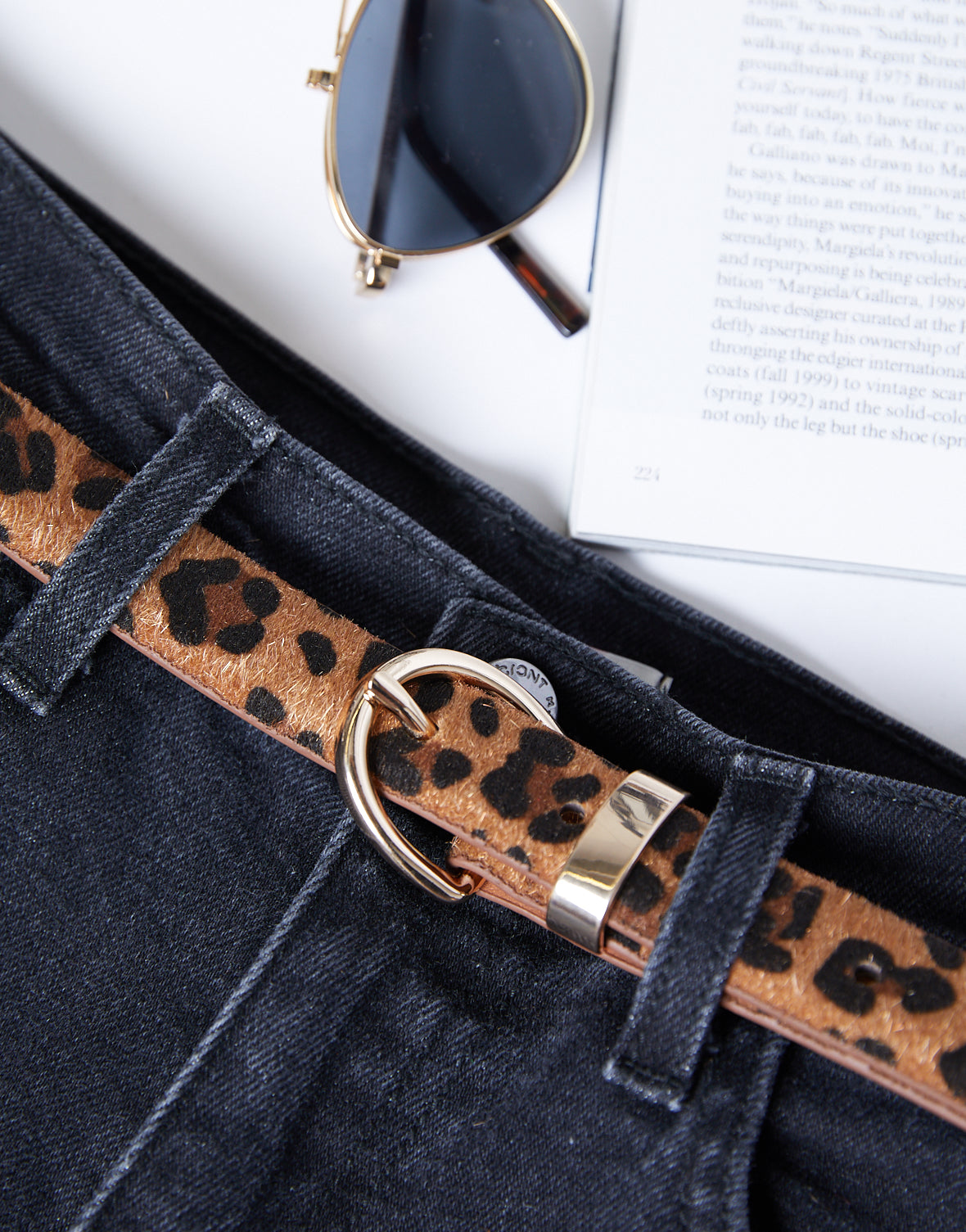 Right Meow Leopard Belt