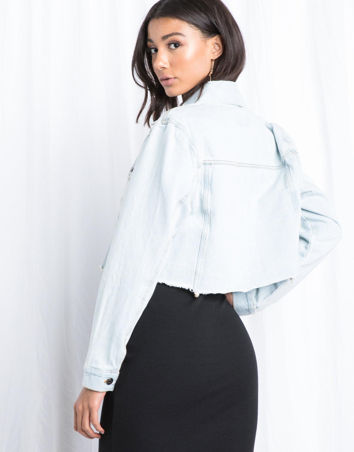 Road Tripping Cropped Denim Jacket