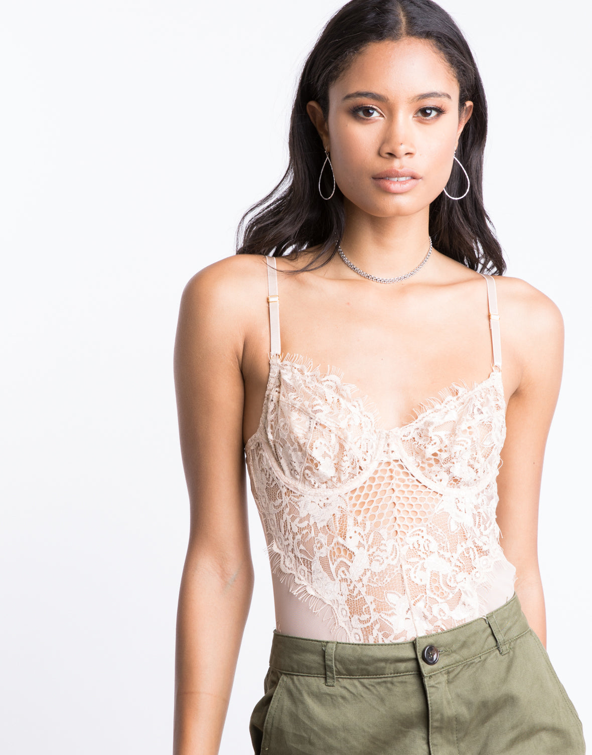 Romantic Eyelash Lace Bodysuit