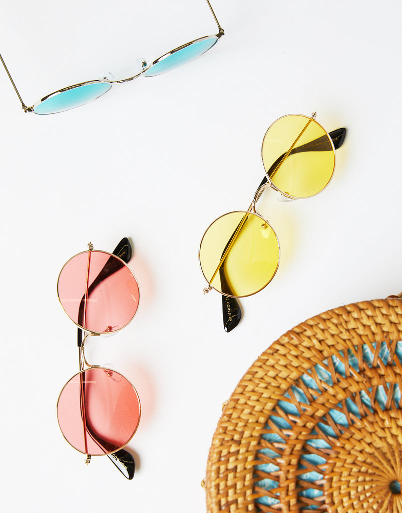 Round and Round Colored Sunglasses Accessories -2020AVE
