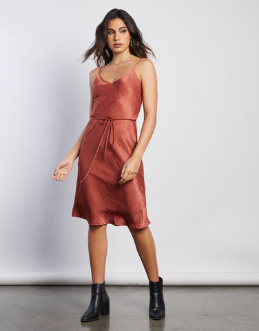 Roxy Silky Slip Dress