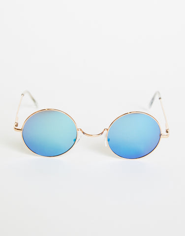 Round Retro Two-Toned Sunglasses