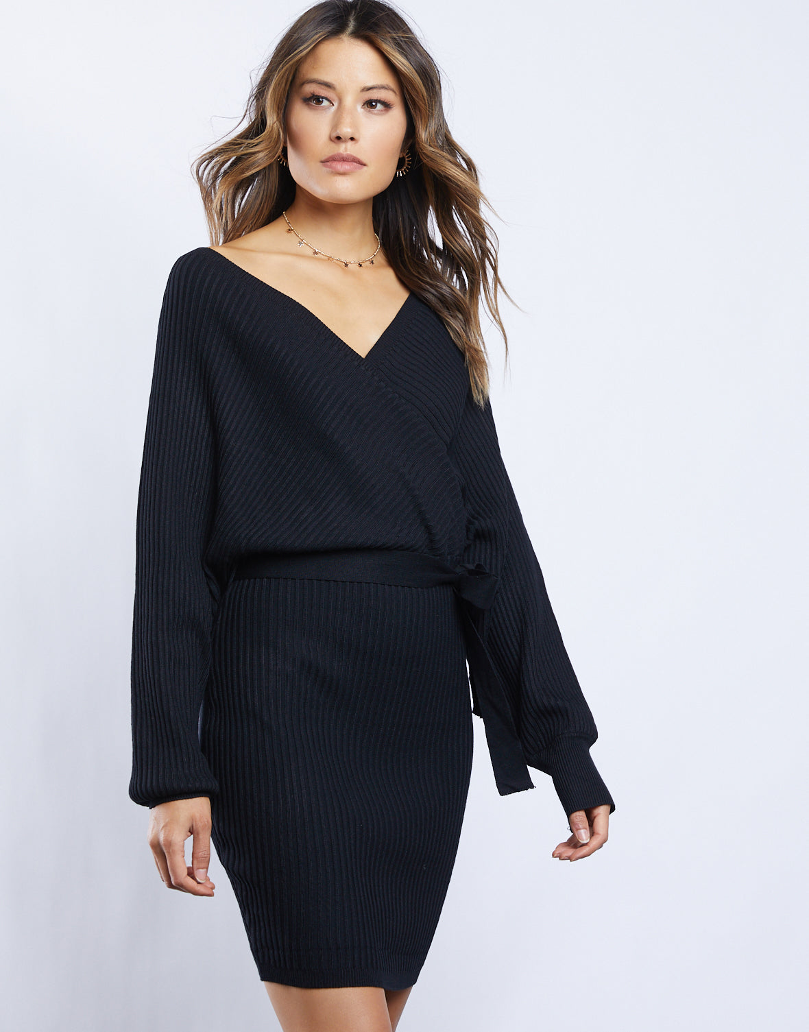 Sabine Sweater Wrap Dress