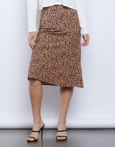 Safari Days Leopard Midi Skirt