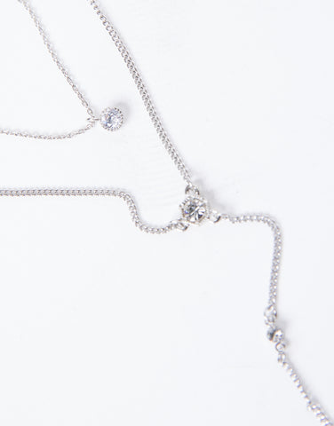 Saige Layered Crystal Necklace