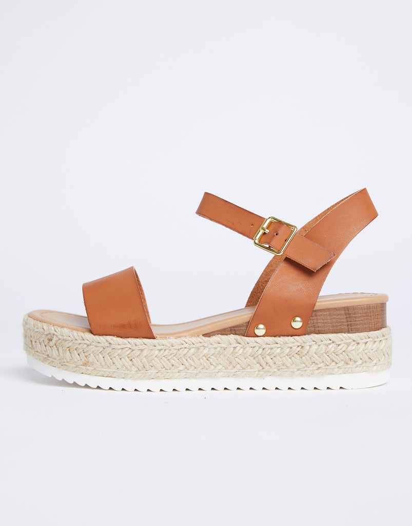 Sandy Platform Espadrilles Shoes Chestnut 5.5 -2020AVE