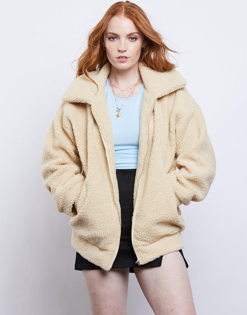 Savior Teddy Jacket Outerwear Taupe S/M -2020AVE