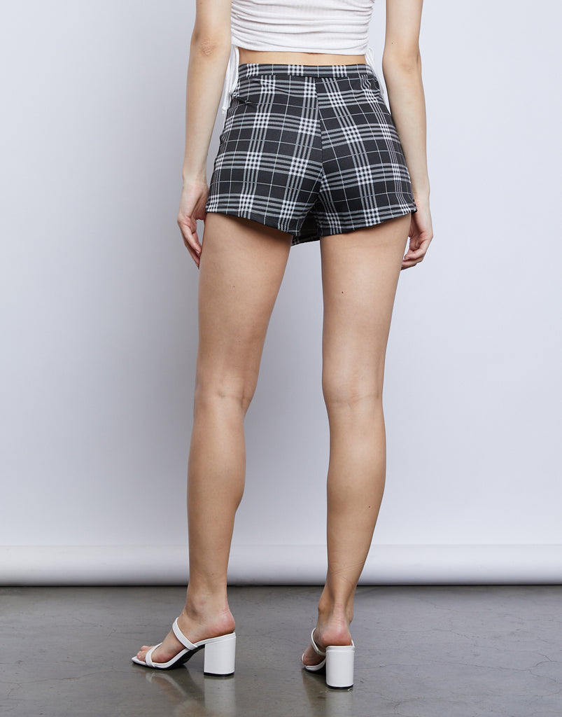 School's Out Plaid Skort Bottoms -2020AVE