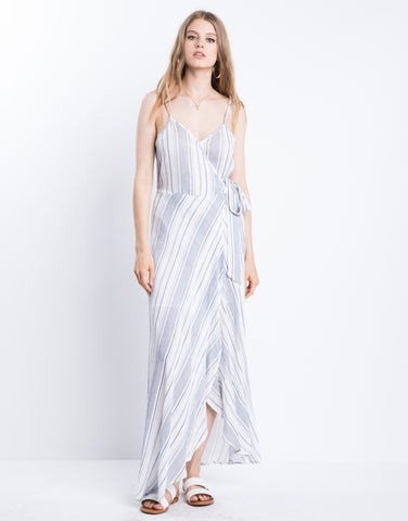 Seaside Goddess Wrap Dress