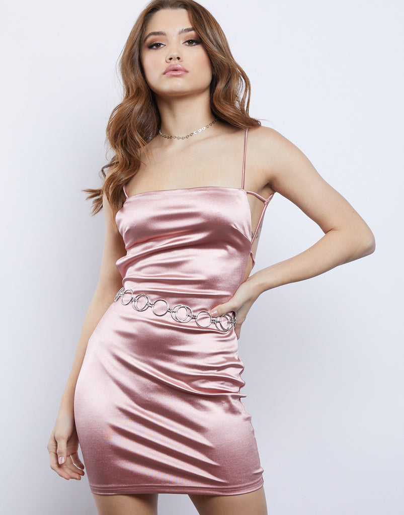 Serena Satin Dress Dresses Rose Small -2020AVE