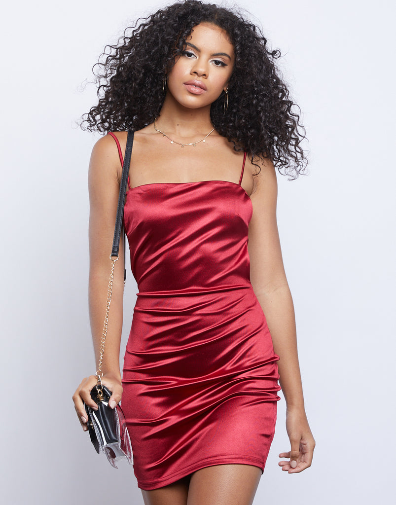 Serena Satin Dress Dresses Cherry Small -2020AVE