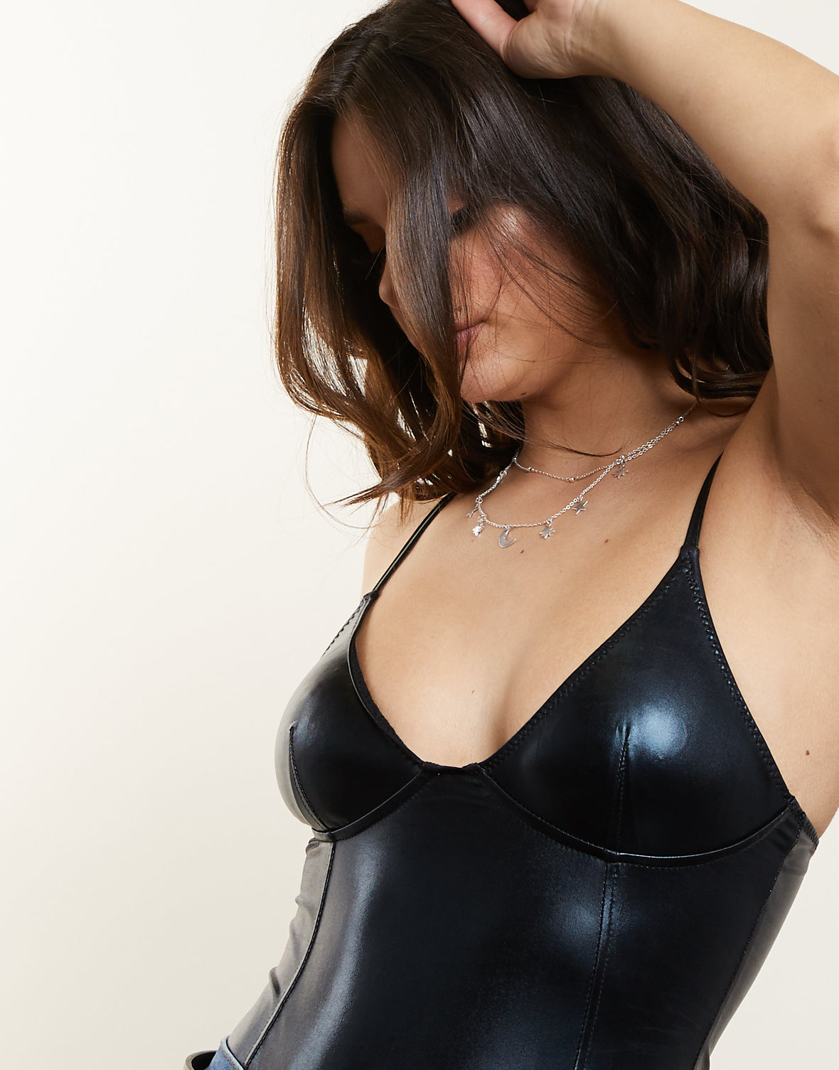 Shiny Metallic Bodysuit