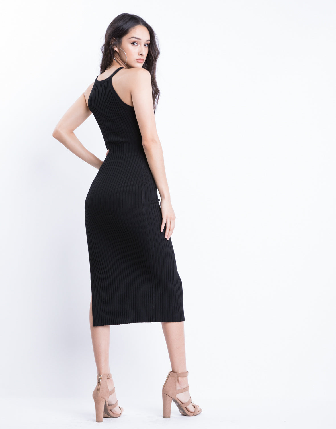 Side Slit Bodycon Dress