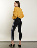 Side Stripe Velvet Leggings