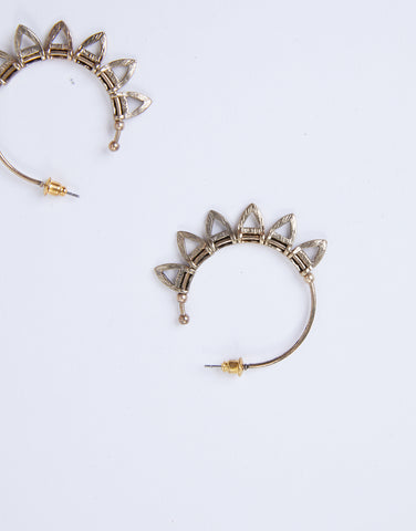 Sienna Geometric Hoop Earrings