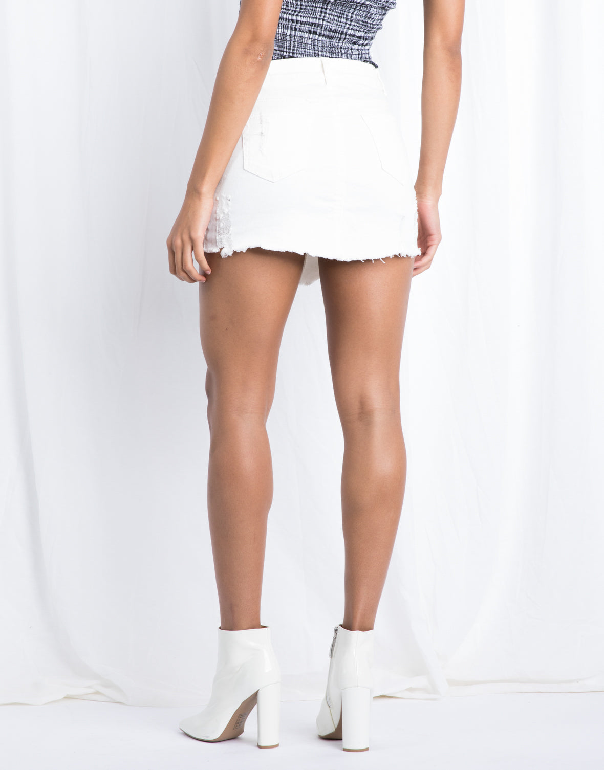 Silver Lining Zip Front Skirt