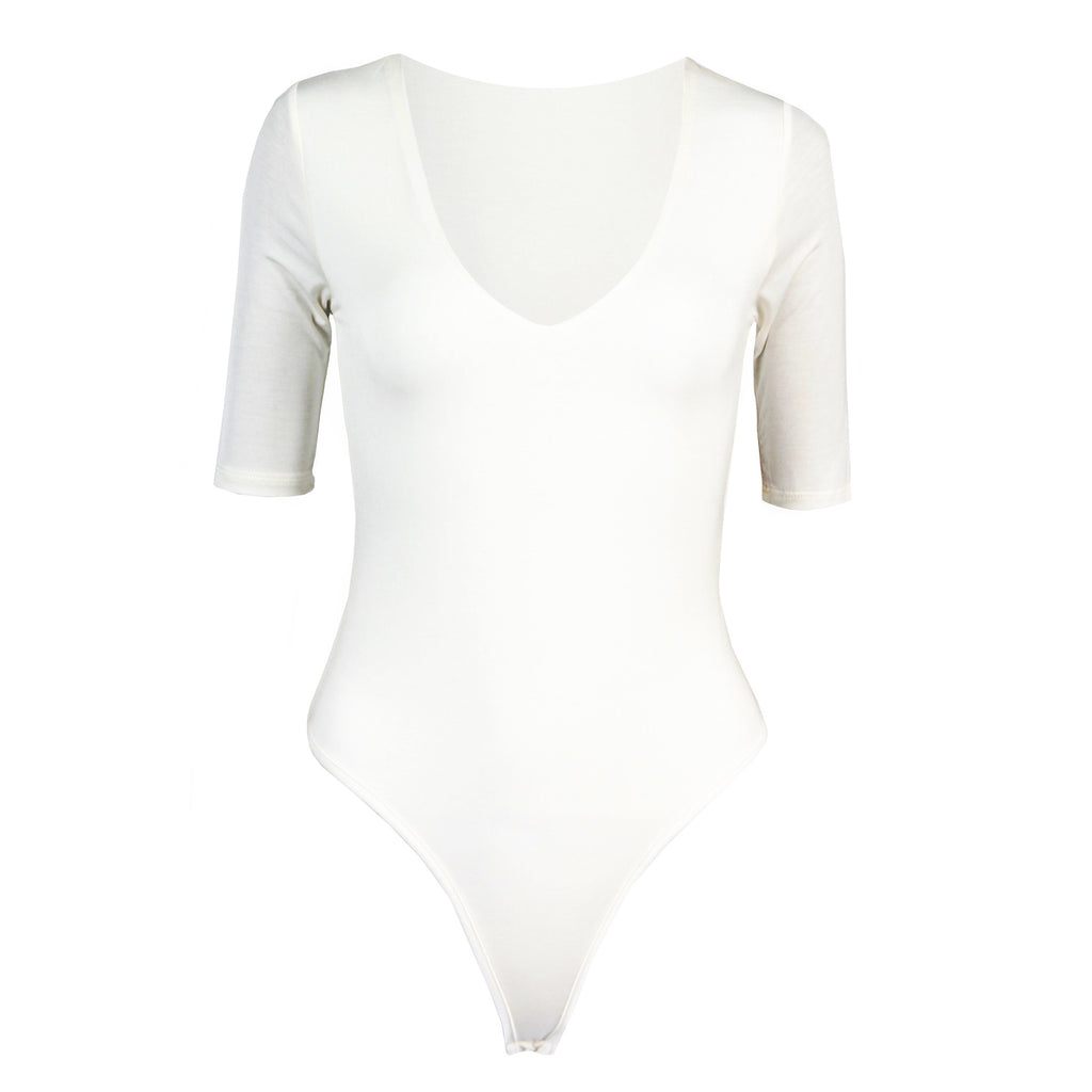 Simple V-Neck Bodysuit - 2020AVE