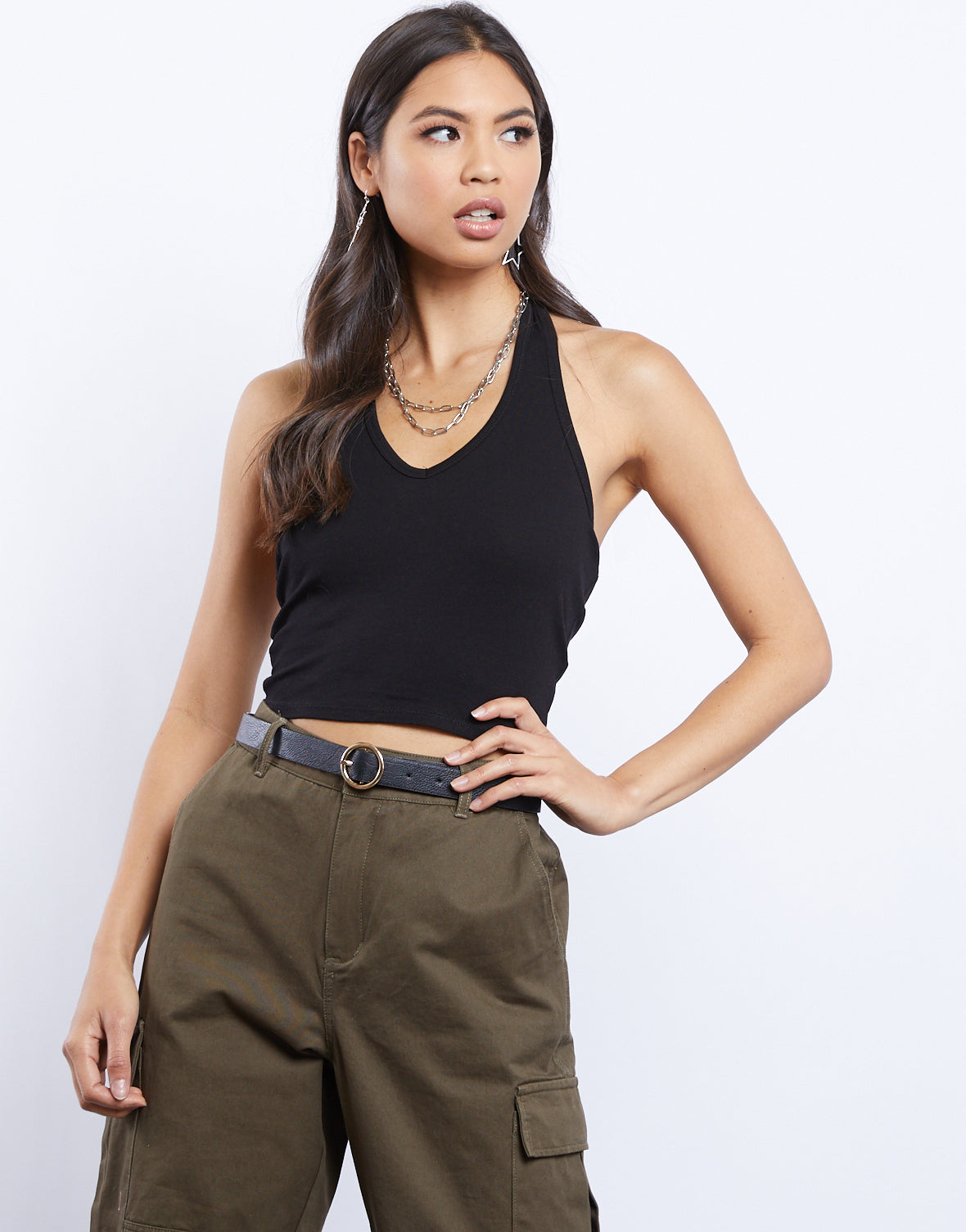Simple And Easy Cropped Halter Top