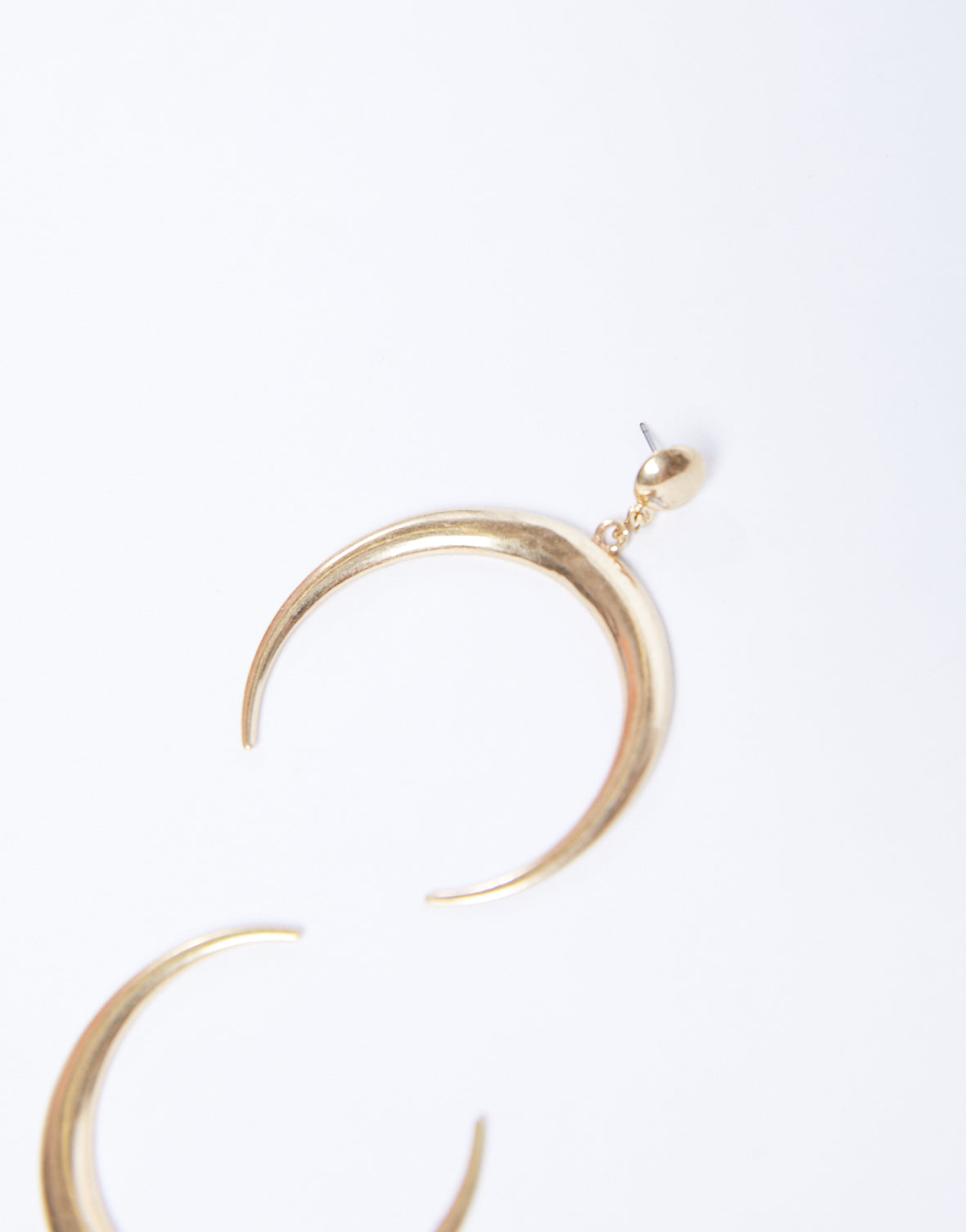 Simple Crescent Dangle Earrings