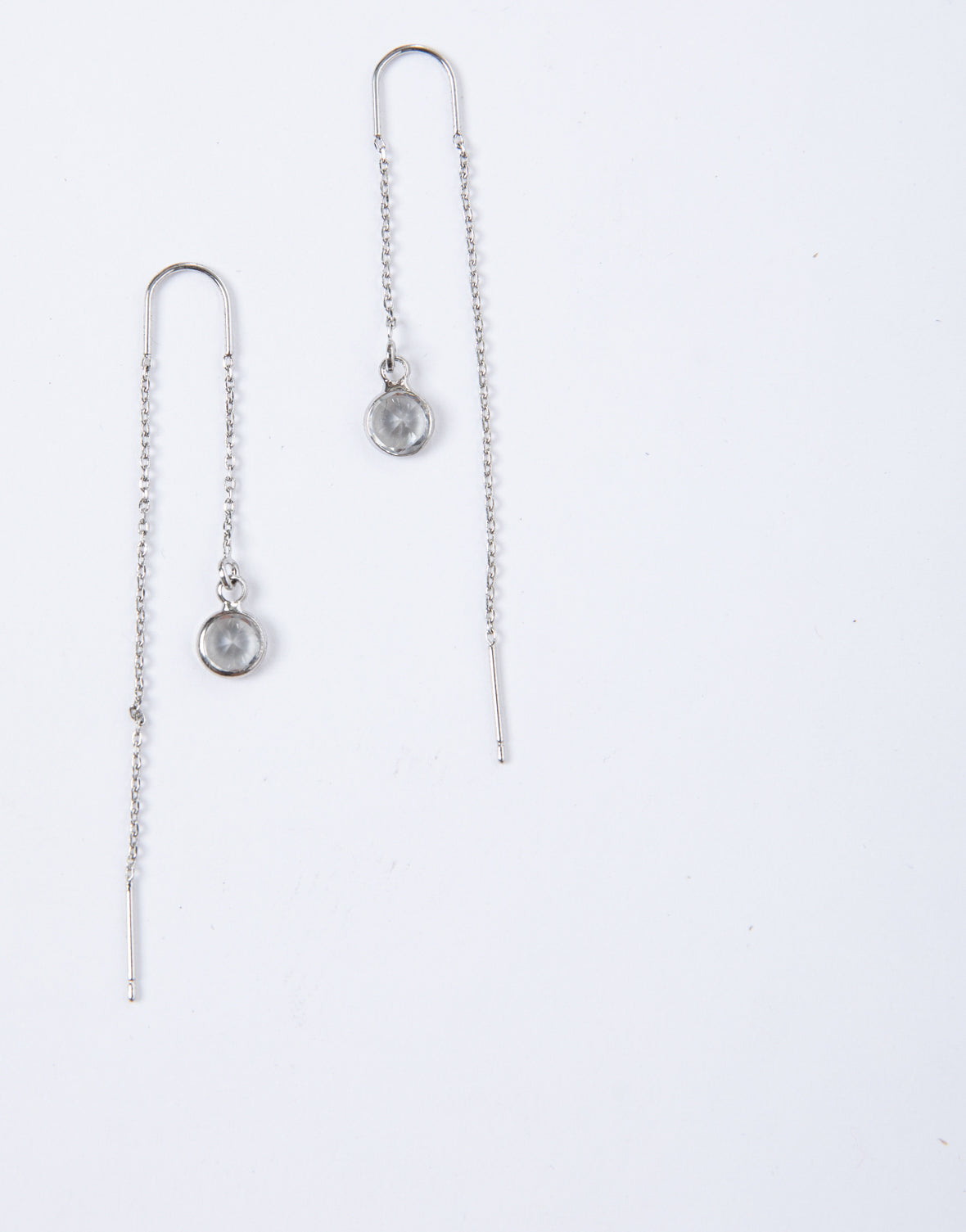 Simple Crystal Threader Earrings