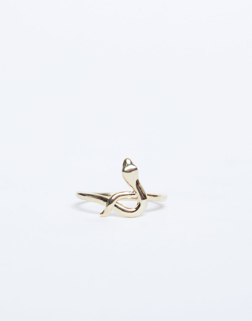 Slithering Snake Ring Jewelry Gold One Size -2020AVE