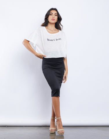 So Basic Bodycon Midi Skirt