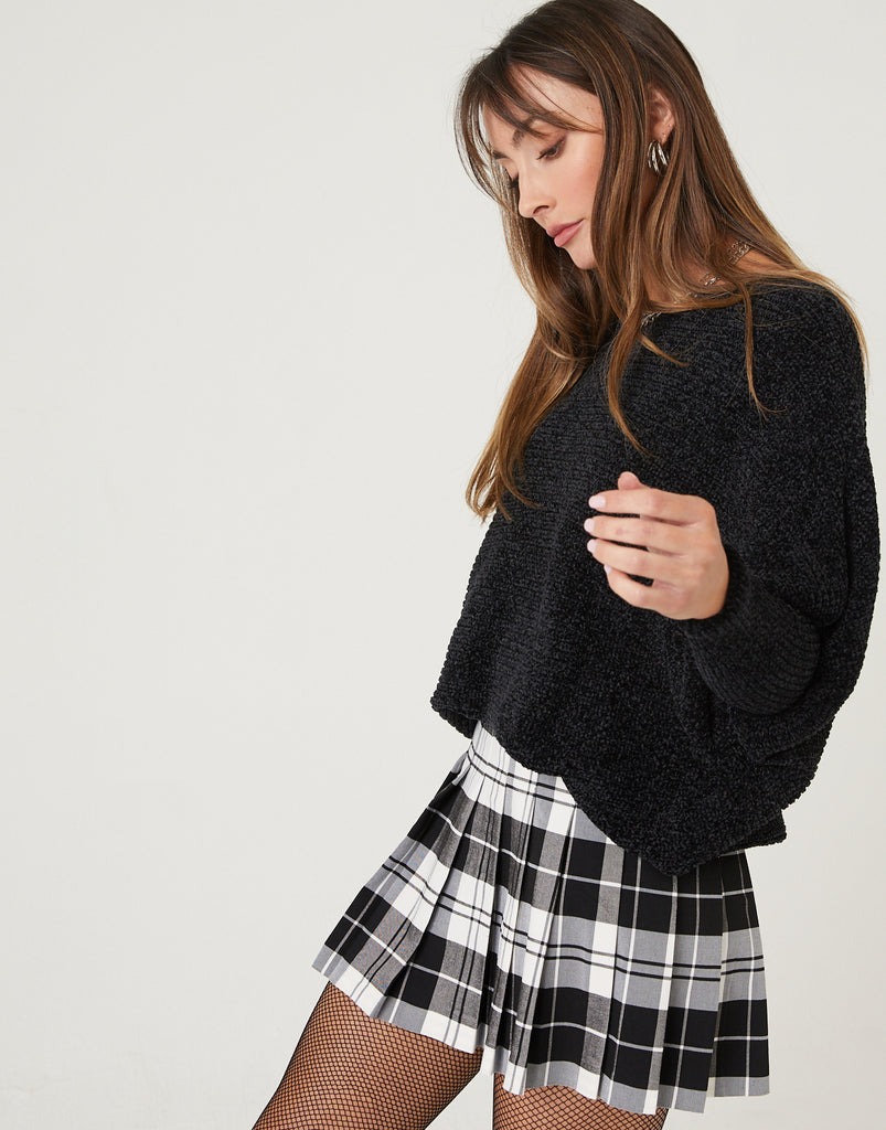 Pleated Plaid Tennis Skirt Bottoms -2020AVE