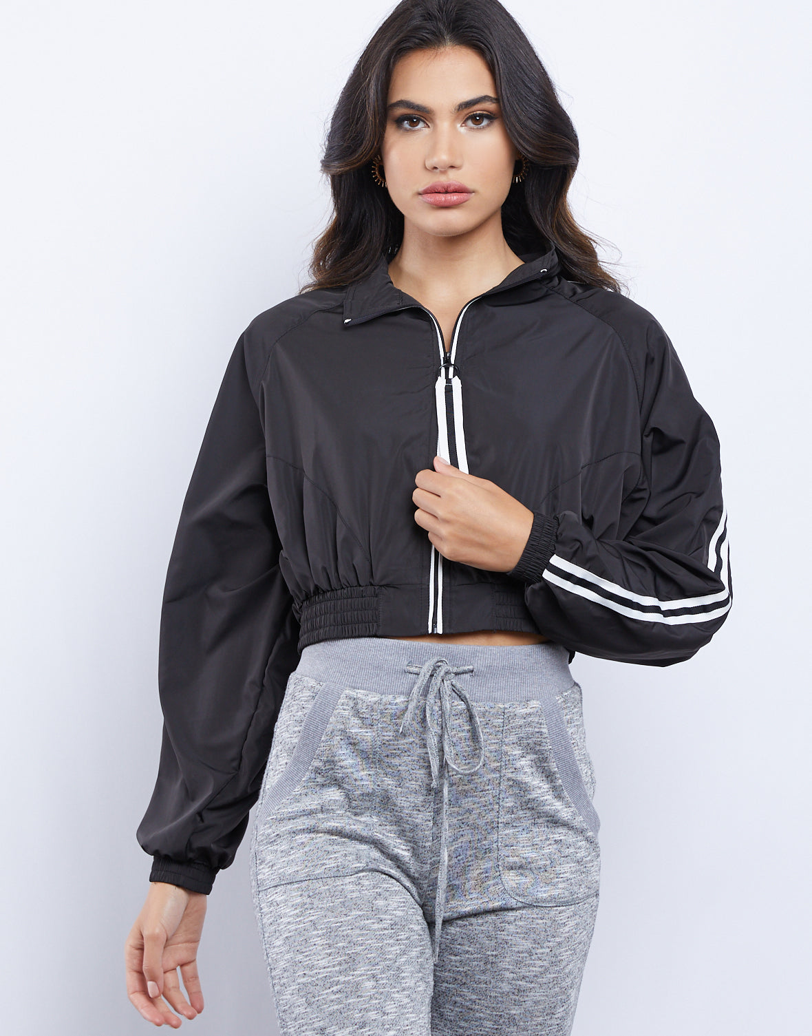 Sporty Girl Cropped Windbreaker