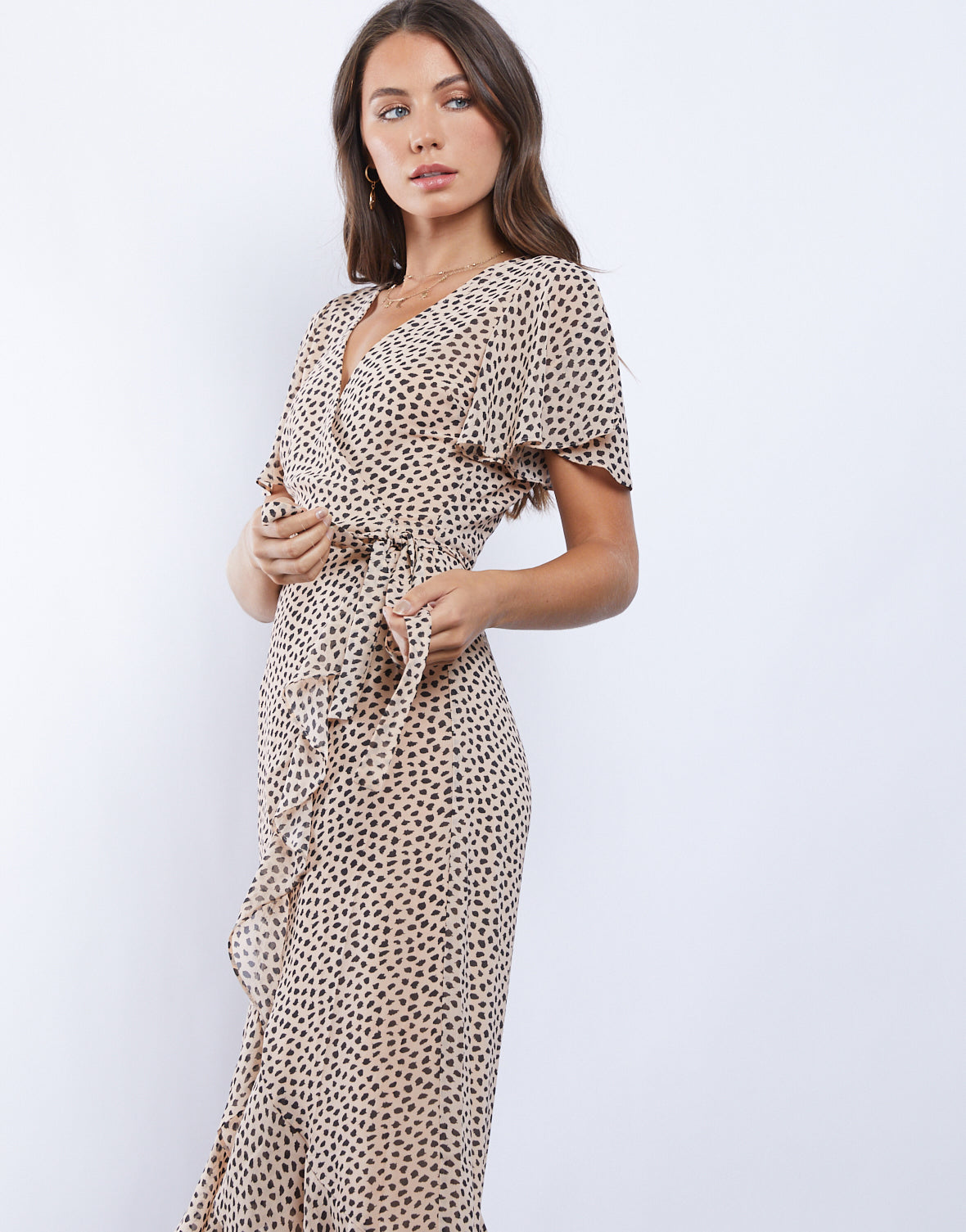 Spotted Safari Leopard Wrap Dress