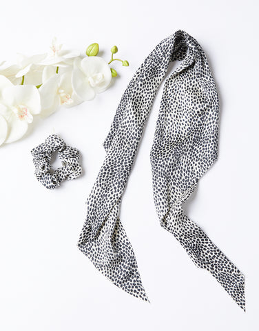 Spotted Scrunchie and Scarf Set