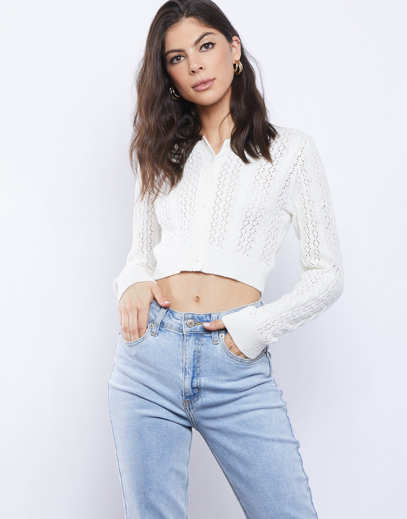 Spring Fling Cropped Cardigan Tops -2020AVE